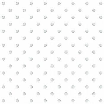 Vitt med ljusgrå prickar