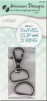 Karbinhake och D-ring Silver
