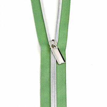 Dragkedja Grön med Silver