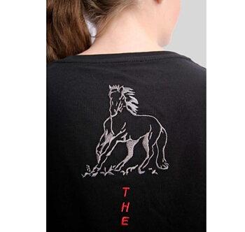 Top Reiter ny snyga T-shirt  VON i svart med brodyr.