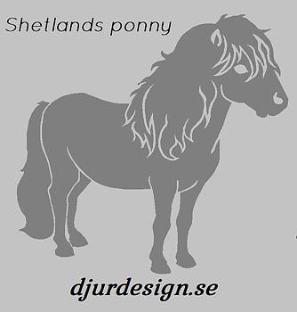 Nr 9 Shetlands ponny Klisterdekal