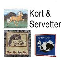 Kort & Servetter Islandshästar