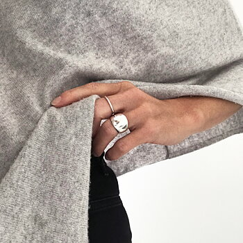MILA CHUNKY ring, polished