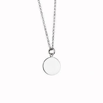 MILA MOON halsband medium silver