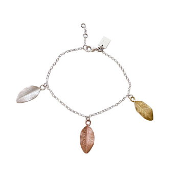 MY GARDEN LEAF Charm armband, mix