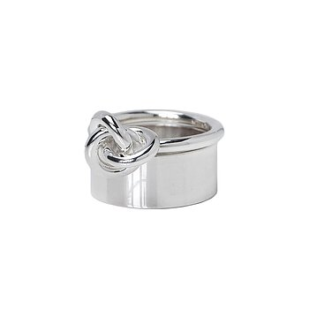 MILA COMBO ringar Plain ring + Knot ring