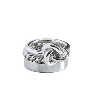 MILA COMBO ringar 5 mm / Twisted / Knot ring