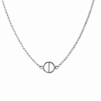 MILA ROD necklace, small silver