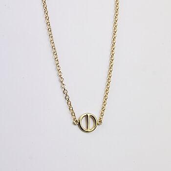 MILA ROD halsband, small guldpläterad