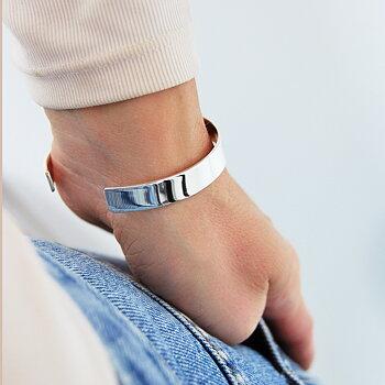MILA PLAIN cuff silver