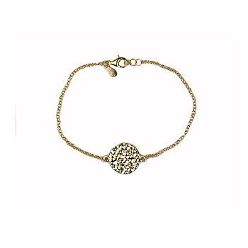 MILA MOON bracelet gold, hammered