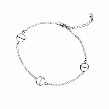 MILA ROD  armband charm, silver