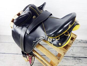Stocksadel i läder utan horn inkl. tillbehör- Endurance