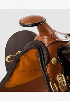 Pfiff Stocksadel i läder med horn inkl. tillbehör