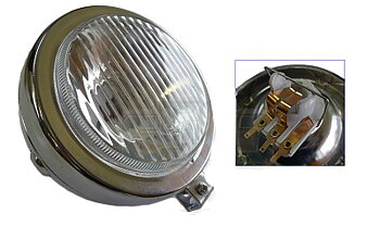 Headlight Puch / MCB round Chrome