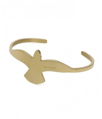 BUD TO ROSE - Big Dove Bangle - Gold