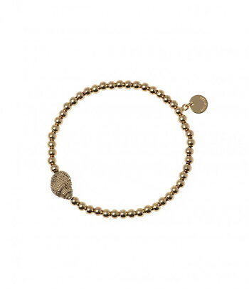 BUD TO ROSE - Elastic bracelet w. shell - Gold