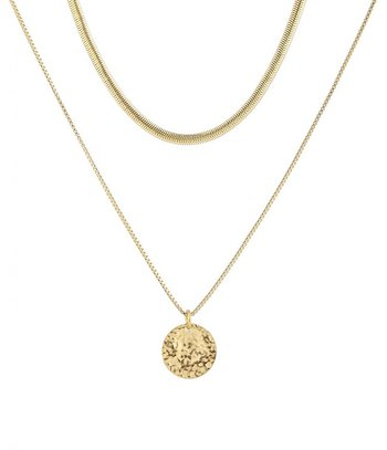 BUD TO ROSE - Devious Duo Snake Necklace in Gold