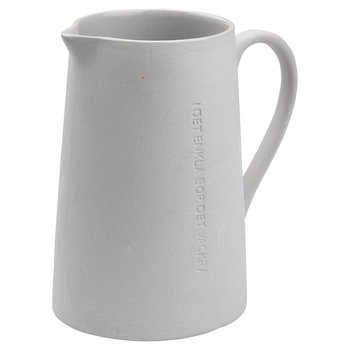 Ernst - Mjölkkanna, stengods, mörkgrå & grå