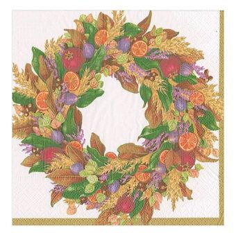 Caspari- Autumn Wreath, Lunch servett