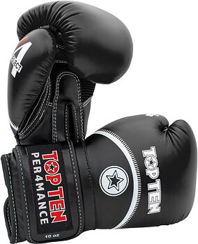 Topten Boxingglove 4Select , Black 10-16 oz