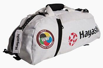 Hayashi WKF Gymbag/Ryggsäck, Vit Large