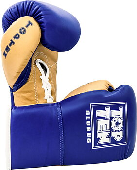 Topten Boxglove GLORUS, blue with lacing 10 oz