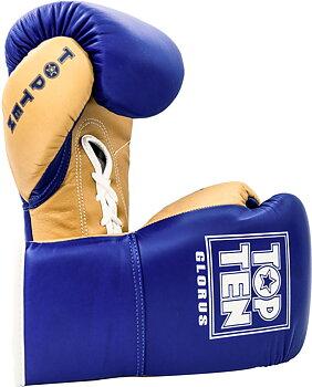 Topten Boxhandske GLORUS, blå med snörning  10 oz