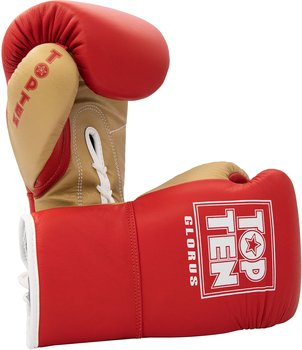 Topten Boxglove GLORUS, red with lacing 10 oz