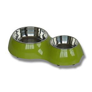 Matbar melamin/rostfritt rund 31x17,5x6,5 cm grön