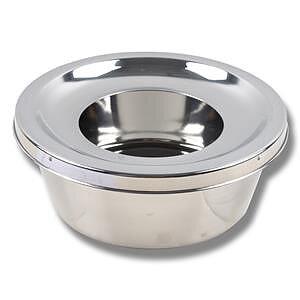 Vattenskål rostfri Nonsplash med rostfritt lock
