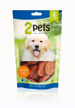 2pets Dogsnack Chicken Coins 100 g