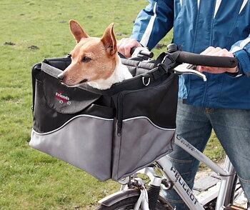 Cykelkorg Front-Box de luxe Svart/Grå 41x26x26 cm