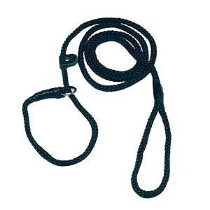 Retriverkoppel nylon svart 185 cm x 8 mm