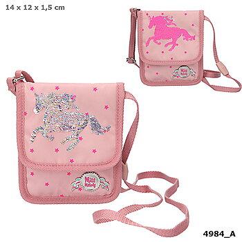 Miss Melody liten väska med paljetter rosa