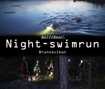 Night swimrun - Brunnsviken