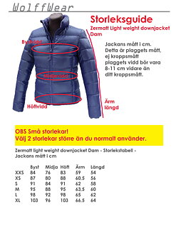 Zermatt Light weight down jacket Dam