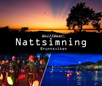 Night open water swim in Brunnsviken