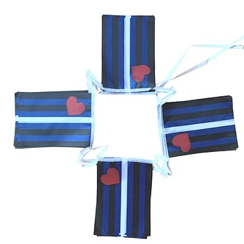 Leather flag bunting - Mini (6,6m)