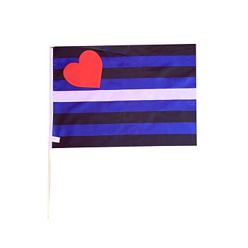 Leather flag on a stick medium size (buy more pay less)