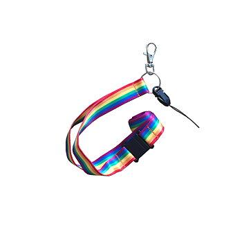 Pridefärgat nyckelband med din text