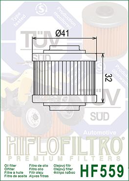 HF559 Hi-Flo Oljefilter Can-Am 990 Spyder