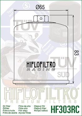 HF303RC Hi-Flo Oljefilter Racing