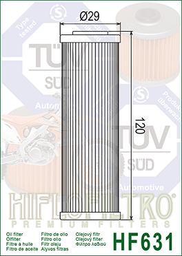 HF631 Hi-Flo Oljefilter Betamotor