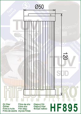 HF895 Hi-Flo Oljefilter Ural
