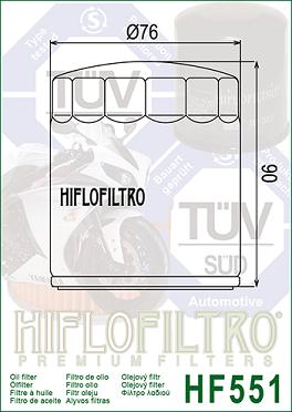 HF551 Hi-Flo Oljefilter Moto Guzzi