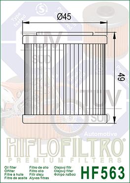 HF563 Hi-Flo Oljefilter (27066)