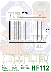 15410-KF0-000, 15410-KF0-010 Honda Oljefilter = Ersätts av  HF112 Hi-Flo Oljefilter MC