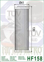 HF158 Hi-Flo Oljefilter (27070) ERSÄTTS AV HF650