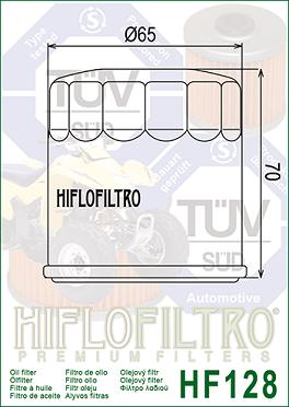 HF128 Hi-Flo Oljefilter(27079)